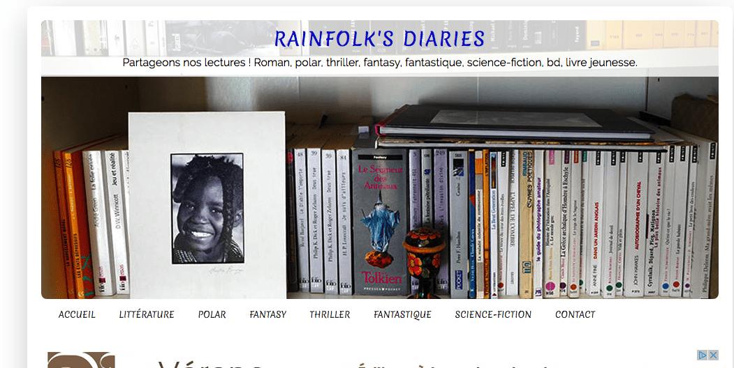 Revue de presse - Tendresse Aveugle dans le blog du chroniqueur Rainfolk's Diary