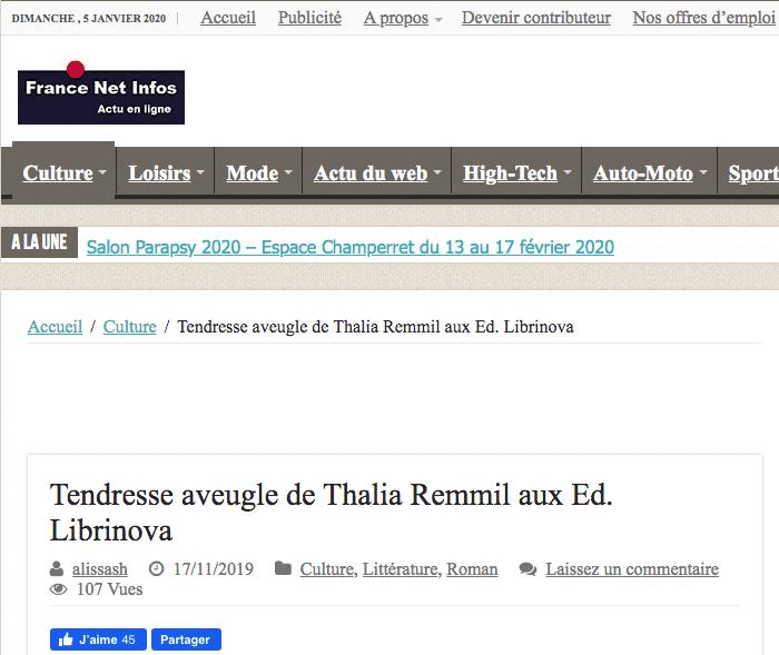 Article France Info Net Thalia Remmil